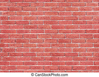 Old Brick Wall - Seamless - Gritty red brick wall from the...