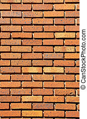 Old Brick Wall with Deep Joints