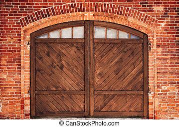 Old Brick Wall with Door.