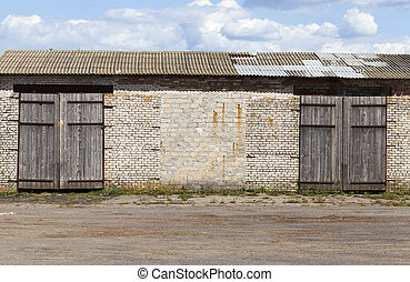 old brick warehouse