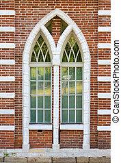 old brick window architecture