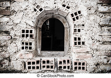 old brick window