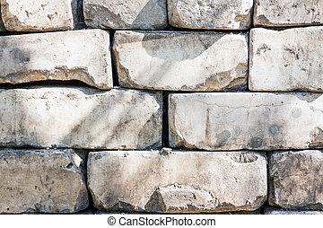 Old brickwork made of white brick