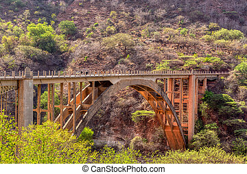 old bridge across Blue Nile, Ethiopia