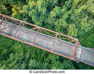 Old bridge aerial view