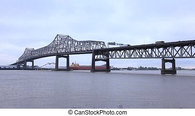 Old Bridge in Baton Rouge, US - Old Horace Wilkinson Bridge...
