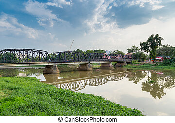 Old bridge in chiang mai, Thailand.
