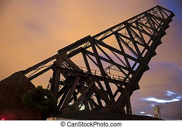 Old bridge in Cleveland