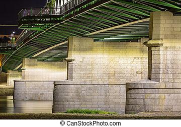 Old Bridge in detail. Bratislava, Slovakia