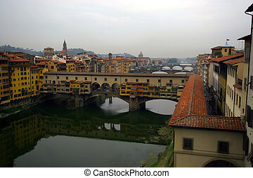 Old Bridge in Florence, Italy.