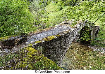 Old bridge in Greece