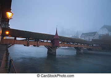 Old bridge in Lucerne