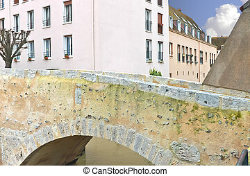 Old bridge in the French city of Chartres.