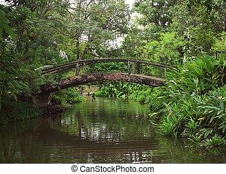 Old bridge in the park