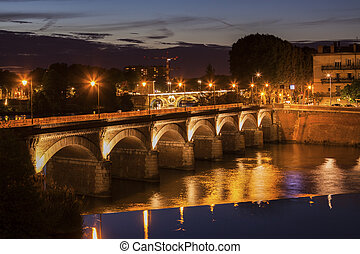 Old bridge in Toulouse