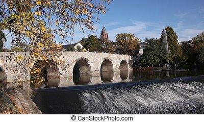 Old bridge in Wetzlar, Germany - Old bridge over the Lahn...