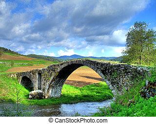 Old Roman bridge in the mountain Rodopi