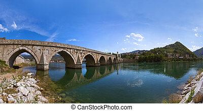 Old Bridge on Drina river in Visegrad - Bosnia and Herzegovina
