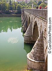Old bridge on Drina river