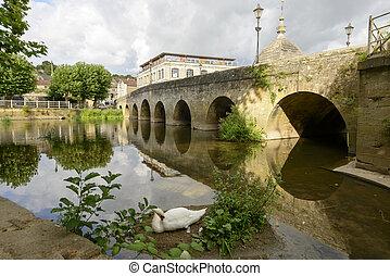 old bridge on river Avon, Bradford on Avon