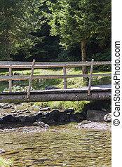 old bridge on river