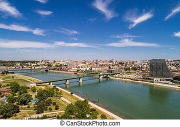 Old bridge on river Sava, Belgrade