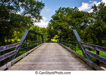 Old bridge over Codorus Creek in York County, Pennsylvania.