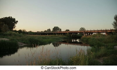 Old bridge over the river