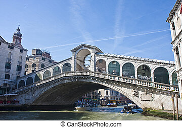 Old Bridge Over Venice Canal