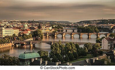 Old bridges of Prague