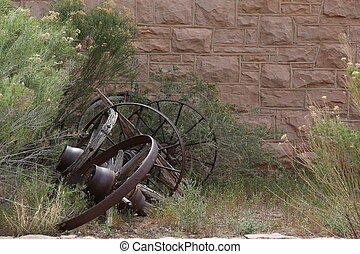 Old broken carriage in Arizona