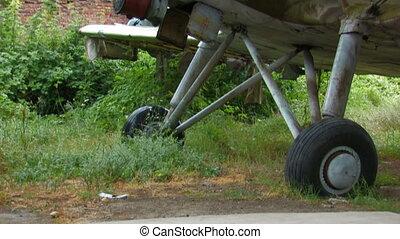 old broken-down military aircraft