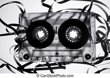 Old broken tape cassete - Old broken tape audio cassete
