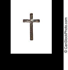 old bronze cross