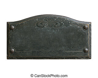 old bronze plate