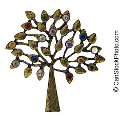 Old brooch in the form of a tree.