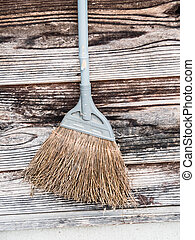 Old broom in a street