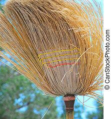 Old broom.