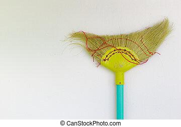 Old broom plastic.