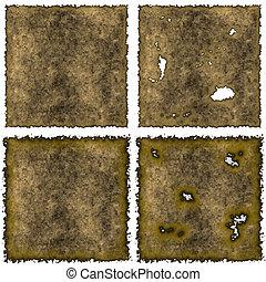 Old brown burned edges parchment