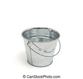 old Bucket isolated on white