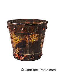 buckets on a white background.