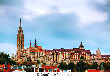 Old Budapest with St. Matthias church