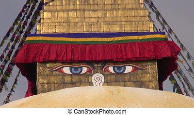 old buddhist  Boudhanath Stupa in Kathmandu, Nepal