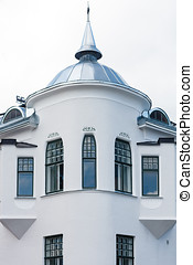 Old Building Exterior wit Dome - Exterior closeup of an old ...
