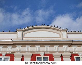 Old building facade detail in Timisoara Romania