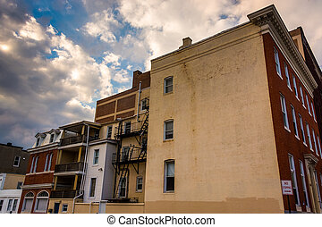 Old building in Baltimore, Maryland.