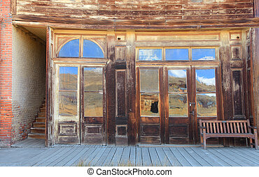 Old building in Bodie, California