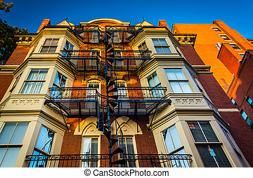 Old building in Boston, Massachusetts.