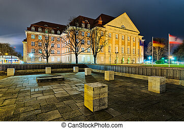 Old building in industrial district, Berlin, Germany - Old ...